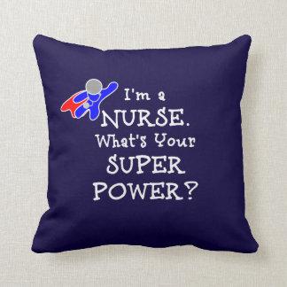 Nurse Superhero (white text) Cushion