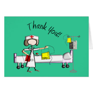 """Nurse """"Thank You"""" Gifts Greeting Cards"""