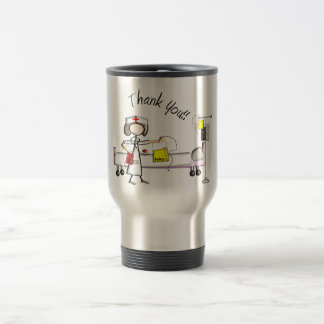 "Nurse ""Thank You"" Gifts Stainless Steel Travel Mug"