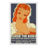 Nurse The Baby 1938 WPA Posters