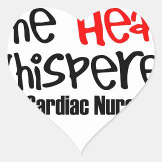 Nurse the heart whisperer heart sticker