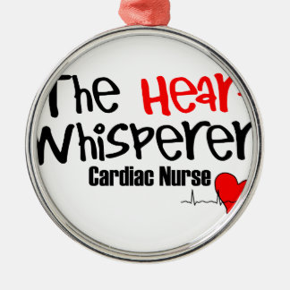 Nurse the heart whisperer Silver-Colored round decoration