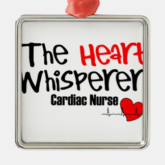 Nurse the heart whisperer Silver-Colored square decoration