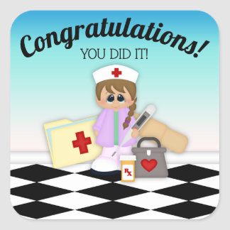 Nurse Visit Congratulations Kid's Sticker