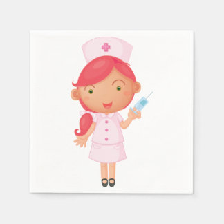 Nurse With A Needle Paper Napkins