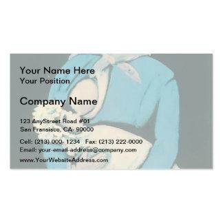 Nurse with baby by Niko Pirosmani Business Card Templates