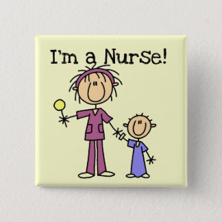 Nurse With Child T-shirts and Gifts 15 Cm Square Badge