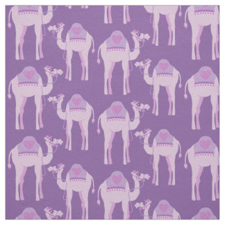 Nursery camel graphic animal purple fabric