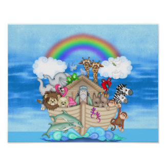 NURSERY DECORATION  Noahs Ark  RAINBOW MURAL