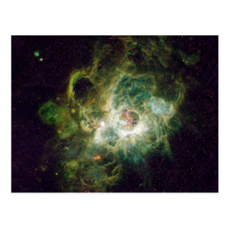 Nursery of stars in a spiral galaxy postcard