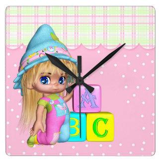 Nursery Or Girls Room Cutie Pie Clock