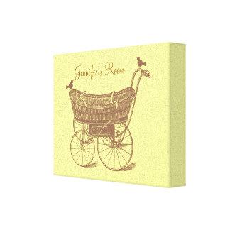 Nursery Print- Any Colour Background! Canvas Print