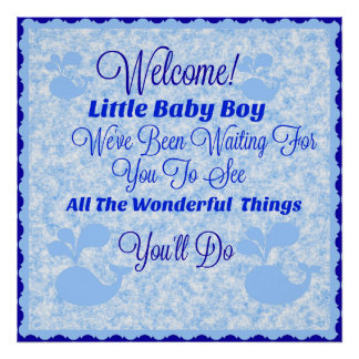 Nursery Quote Poster - Baby Boy