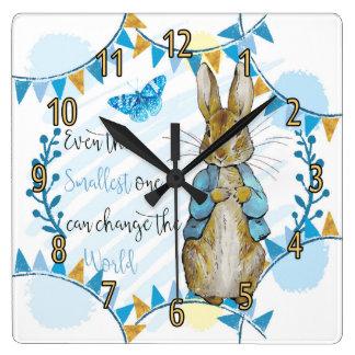 Nursery Rabbit and Bunting Clock