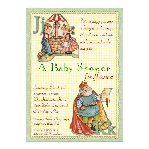 Nursery Rhyme Baby Shower Invitation