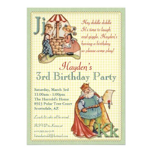 Nursery Rhyme Invitation - Little Piggy on back