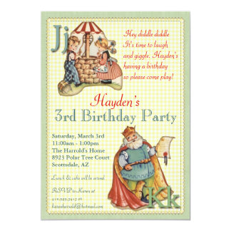 Nursery Rhyme Invitation - Little Piggy on back