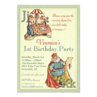 Nursery Rhyme Invitation - Miss Muffet on back