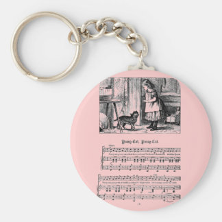 Nursery Rhyme Pussy Cat Pussy cat Basic Round Button Key Ring