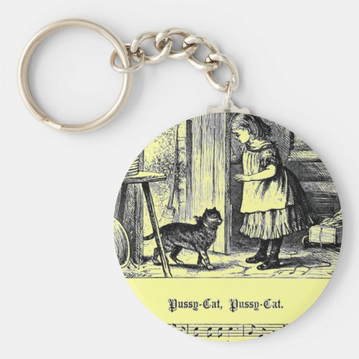 Nursery Rhyme Pussy Cat Pussy cat Key Chains