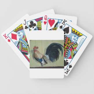 Nursery Rooster Mural Bicycle Playing Cards