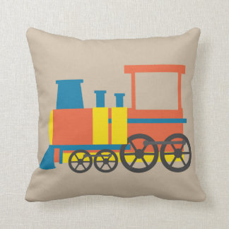 Nursery train illustration kids room decor cushion