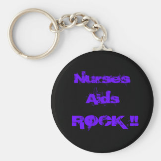 Nurses Aids Rock 2 Key Ring