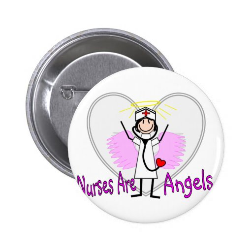 Nurses Are Angels Pins