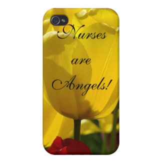 Nurses are Angels! gifts iPhone cases Yellow Tulip