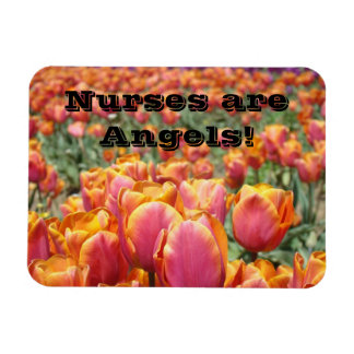 Nurses are Angels! magnets Colorful Tulip Flowers