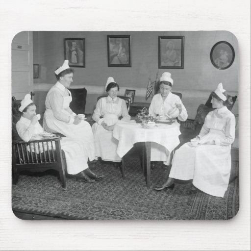 Nurses at Tea, early 1900s Mouse Pads