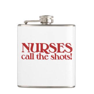 Nurses Call the Shots Hip Flask