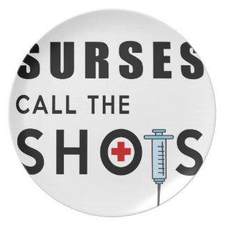 Nurses call the shots plate