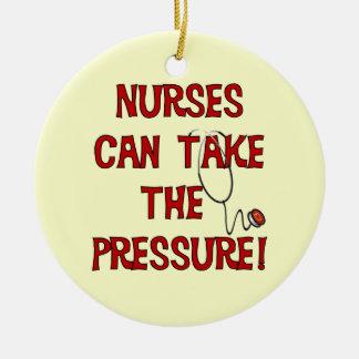 Nurses Can Take the Pressure Round Ceramic Decoration