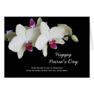 Nurses Day Card -- Orchids