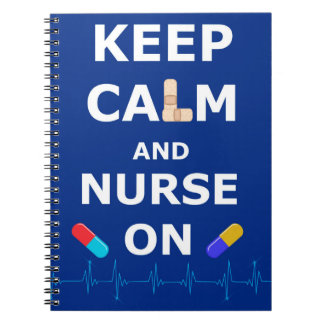 Nurses Day Keep Calm Photo Notebook (80 Pages B&W)