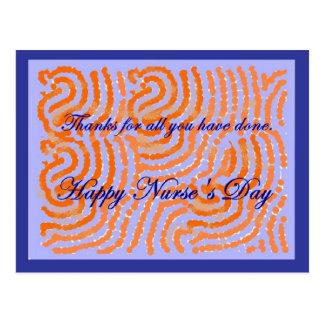 Nurses Day thank you post card. Customizable.