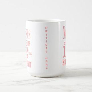 Nurses do it 12 hrs straight!-CRITICAL CARE/Pink Basic White Mug
