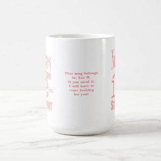Nurses do it 12 hrs straight!-Fun Message+Name Basic White Mug
