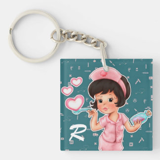 Nurses do it with Love. Gift Keychains