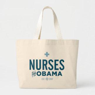 Nurses for Obama Large Tote Bag