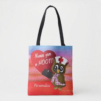 Nurses Give a Hoot! Owl Nurse Tote Bag