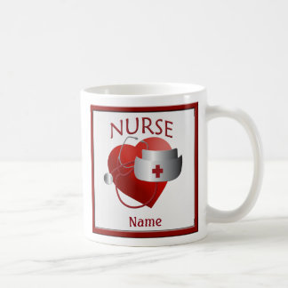 Nurses Have Heart Custom Nurse Name Mug