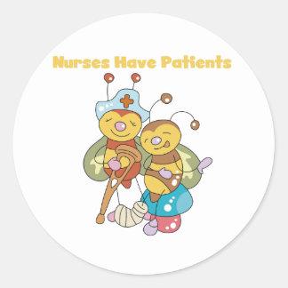 Nurses Have Patients Classic Round Sticker
