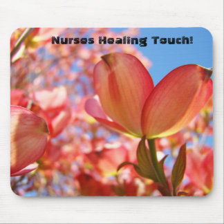 Nurses Healing Touch mouse pads Pink Tree Flowers
