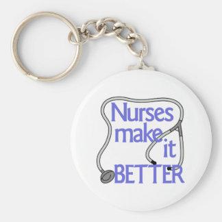 Nurses Make It Better Basic Round Button Key Ring