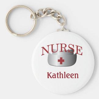 Nurses Name Nurse Button Keychain