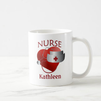 Nurses Name Nurse Heart Custom Mug