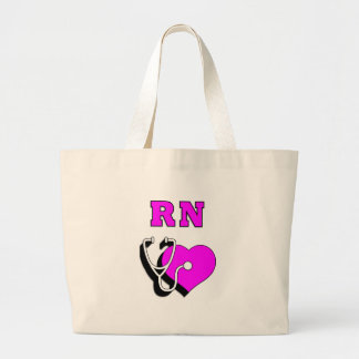 Nurses RN Care Large Tote Bag