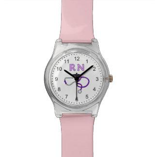 Nurses RN Stethoscope Wristwatch